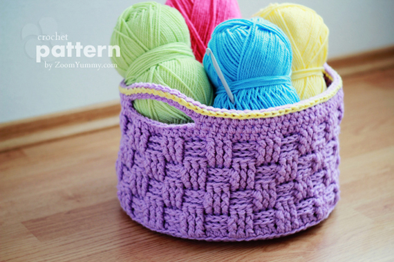 Crochet Pattern - Big Crochet Basket