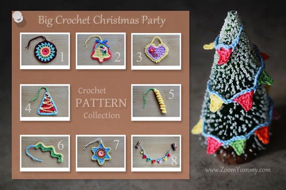 Crochet Pattern - Big Crochet Christmas Party