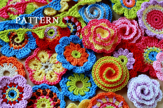 3d Flower Crochet Blanket Pattern Crochet Pattern Big Flower
