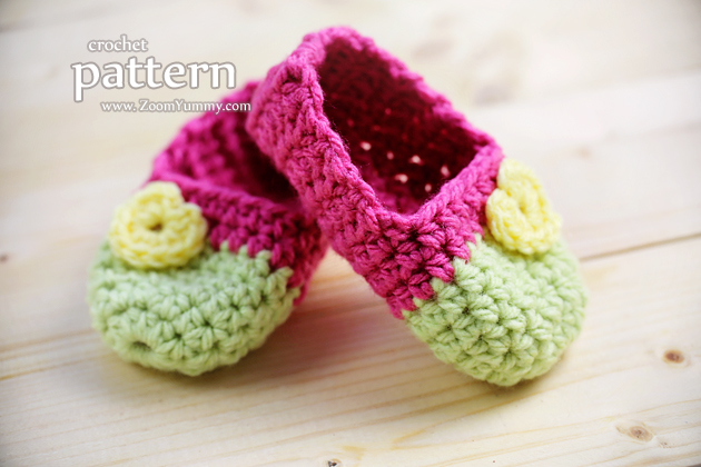 Crochet Pattern - Baby Slippers (Age 0-3 Months)