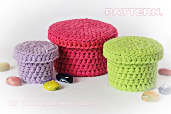 Crochet Pattern - Crochet Boxes