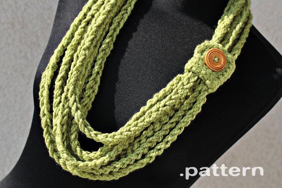Crochet Pattern - Crochet Chain Scarf