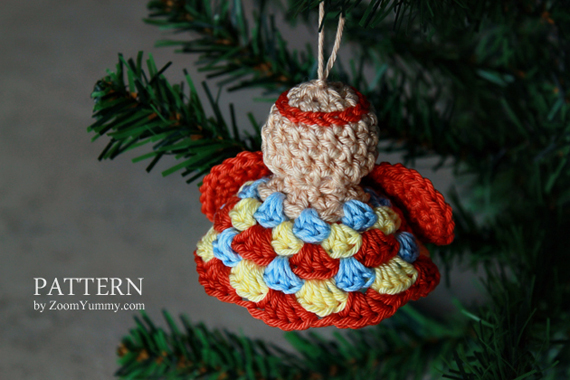Crochet Pattern - Xmas Granny Angel Ornaments