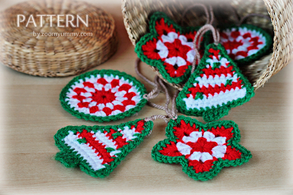 crochet pattern crochet christmas ornaments