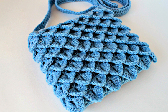 Crochet Pattern - Crochet Crocodile Stitch Bag