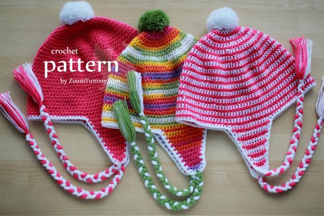 Crochet Pattern - Crochet Earflap Beanie