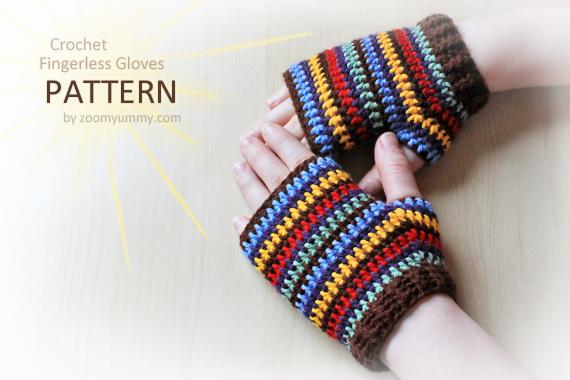 Crochet Pattern - Crochet Fingerless Gloves