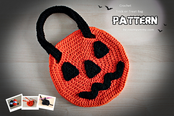 Crochet Pattern - Halloween Trick-or-Treat Bag