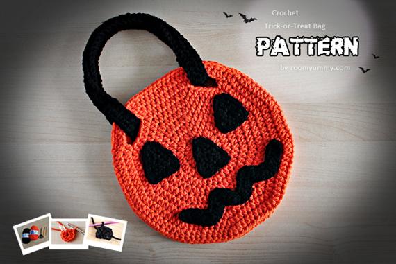 Crochet Halloween Trick-or-Treat Bag