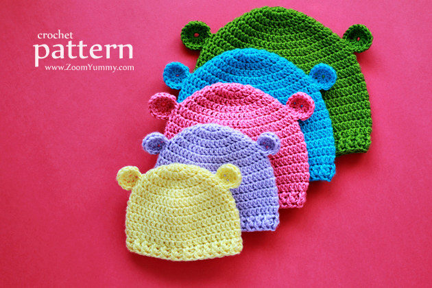 Crochet Pattern - Hats for Baby's First 3 Years