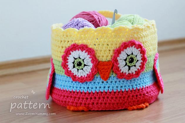crochet owl basket instructions