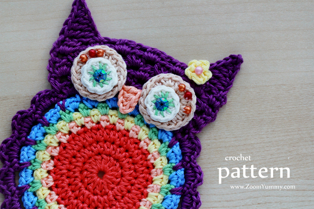 Crochet Pattern - Crochet Owl Coasters