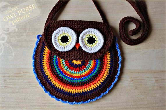 Crochet Pattern - Crochet Owl Purse