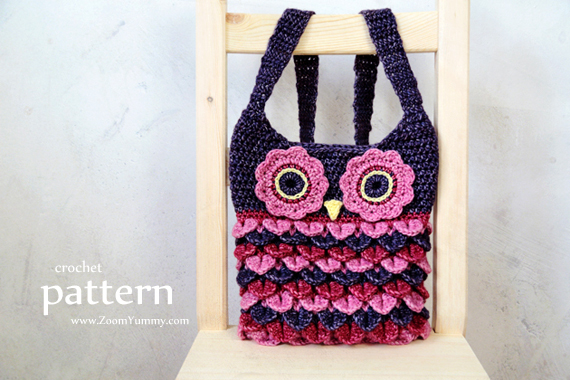 Crochet Pattern - Owl Purse With Feathers