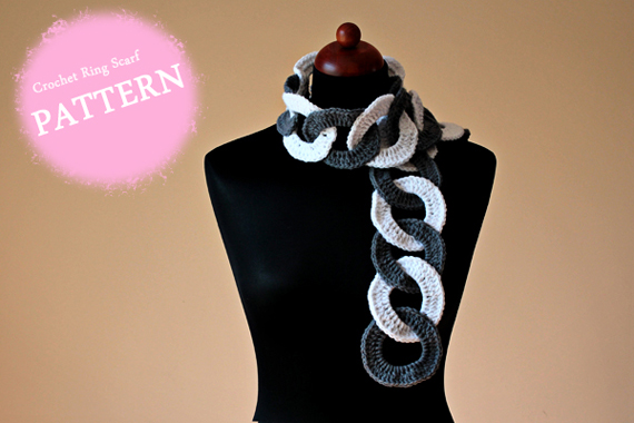 Crochet Pattern - Crochet Ring Scarf