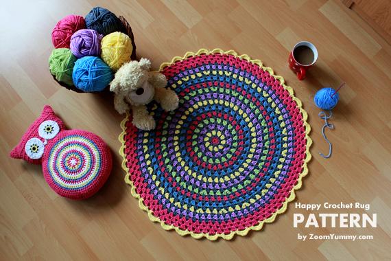 Crochet Pattern - Happy Crochet Rug