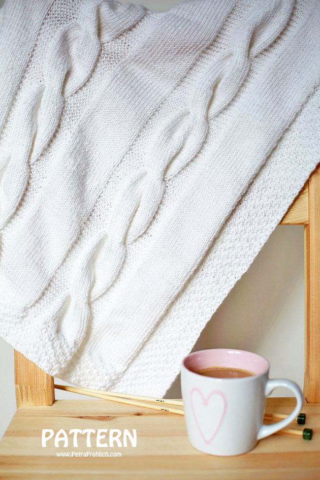 Knit Cable Blanket
