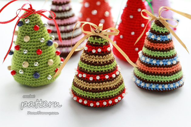 Free Crochet Patterns For Xmas Trees : Christmas Crochet PDF Patterns ? Zoom Yummy - Crochet, Food ...