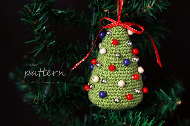 Crochet Pattern - Little Colorful Christmas Trees