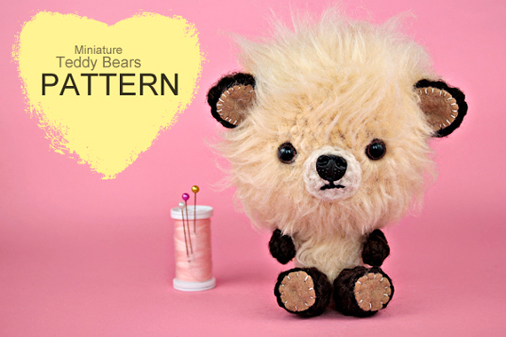 Crochet Pattern - Miniature Crochet Teddy Bears