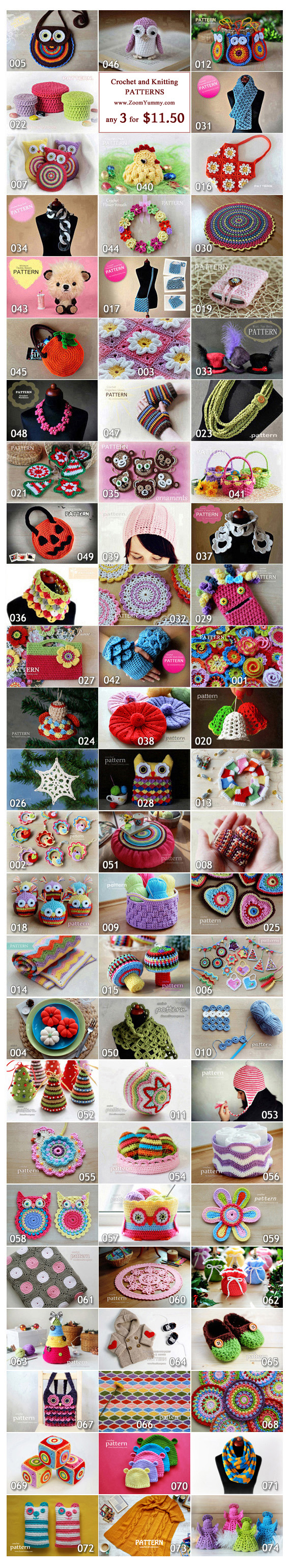 Pick Any 3 Crochet Patterns Bundle