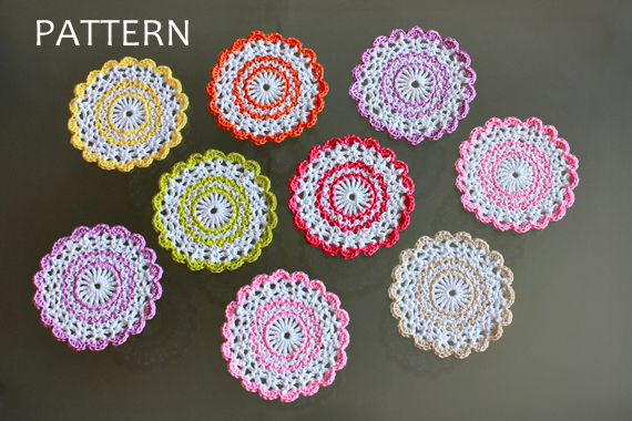 Crochet Pattern - Sweet Crochet Coasters