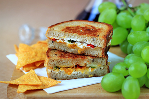 crispy chili pepper grilled cheese sandwich recipe with step by step pictures and list of ingredients, how to make crispy chili pepper sandwich, recipe, ingredients, pictures, images