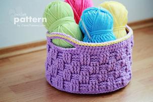 big crochet baskets pattern