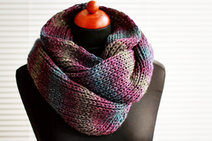simple knit infinity scarf tutorial