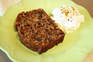 banana bread recipe with step by step pictures and list of ingredients, banana bread