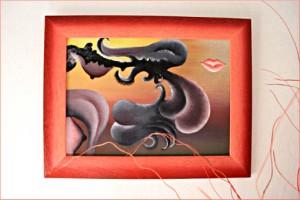 wonderful modern abstract oil paintings Europe, in situ art, folk art, central European art, selling paintings