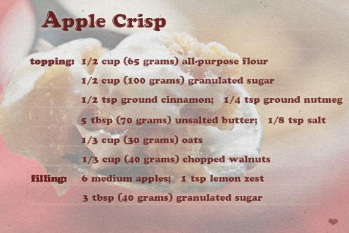 apple crisp recipe with