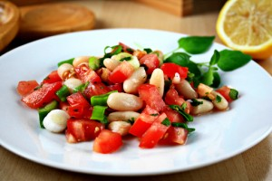 tomato and bean salad recipe with step by step pictures, ingredients, pictures, recipe, images