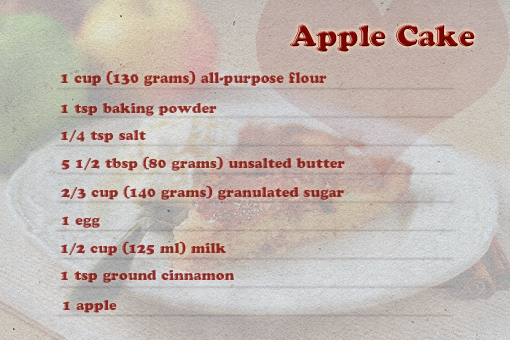 apple cake recipe with step by step pictures