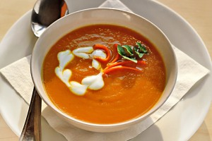 puree of carrot soup with curry and ginger, how to make carrot soup recipe with step by step pictures, recipe, ingredients, pictures, images