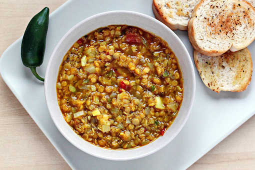 lentil soup with Indian spices recipe with step by step pictures