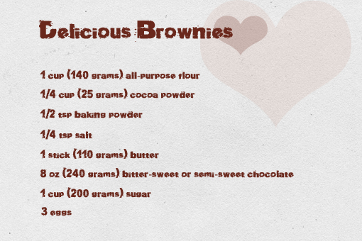 The Kitchen Show Brownie Recipe