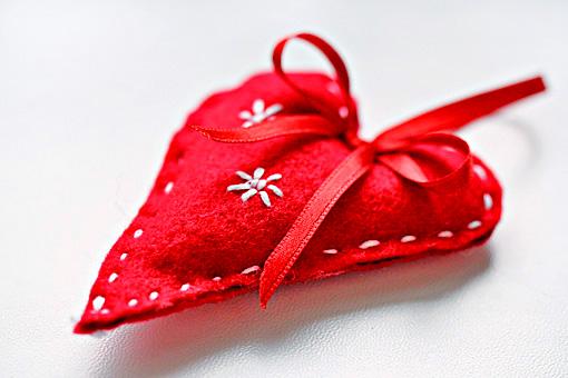 handmade felt Christmas ornaments