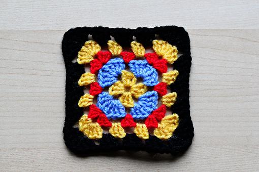 crochet granny squares free pattern
