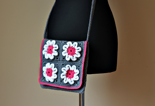 crochet flower purse pattern