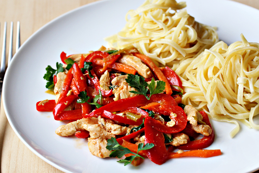 spring chicken salad with noodles recipe with step by step pictures