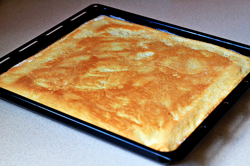 fruit squares with cream cheese filling recipe with step by step pictures, place the second layer on top of the filling