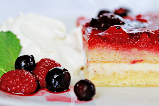 fruit squares with cream cheese filling recipe with step by step pictures