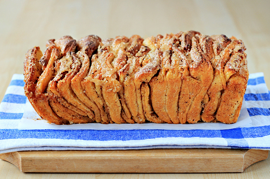 Cinnamon Sugar Pull-Apart Bread in BREADSSWEET/LOAF GIFT Forum