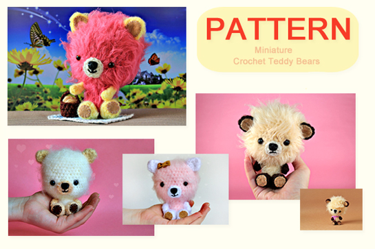 crochet mini teddy bears pattern by zoomyummy.com