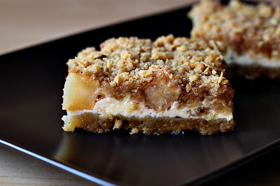 Caramel apple cheesecake cookie bars recipe with step by step pictures. Cut into bars (3 x 3 inches/7 x 7 cm).
