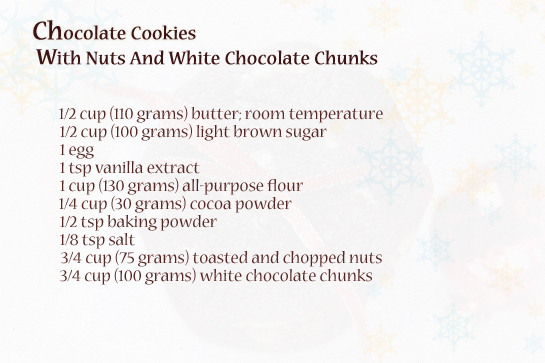 chocolate-cookies-with-nuts-and-white-chocolate-chunks-ingredients