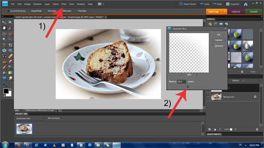 how to add white misty blurred border to a picture with photoshop tutorial, how to set use Gaussian Blur Filter in Photoshop