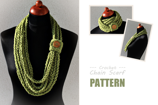 New Pattern Crochet Chain Scarf Crafts Zoom Yummy Crochet