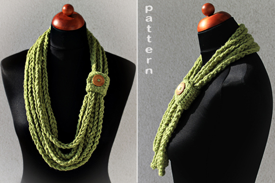 New Pattern ~ Crochet Chain Scarf ? Crafts ? Zoom Yummy - Crochet ...